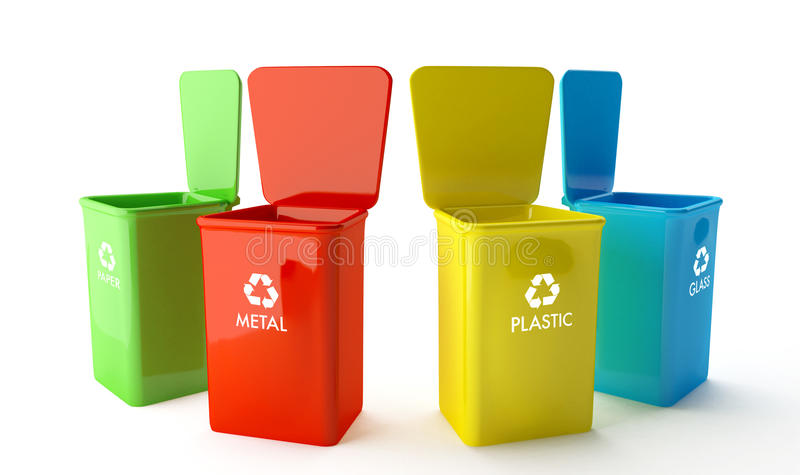 Containers For Recycling Royalty Free Stock Photos