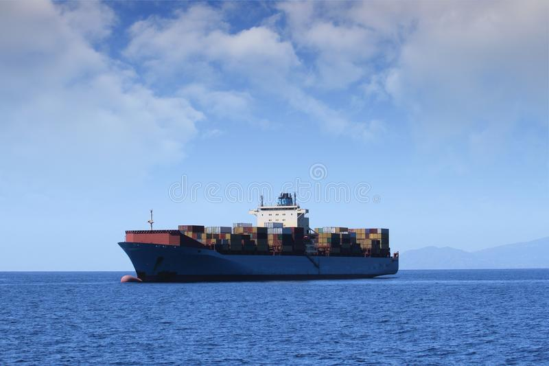 Download Containers transport stock image. Image of vessel, crane - 26607649