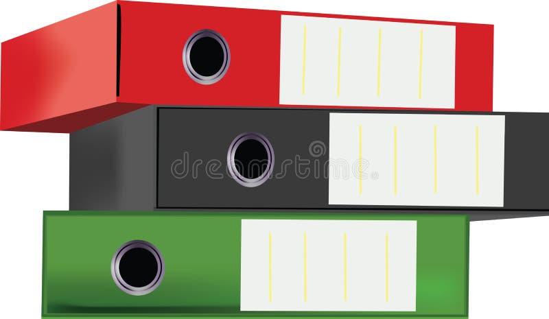 Containers van bladen voor archieven vector illustratie