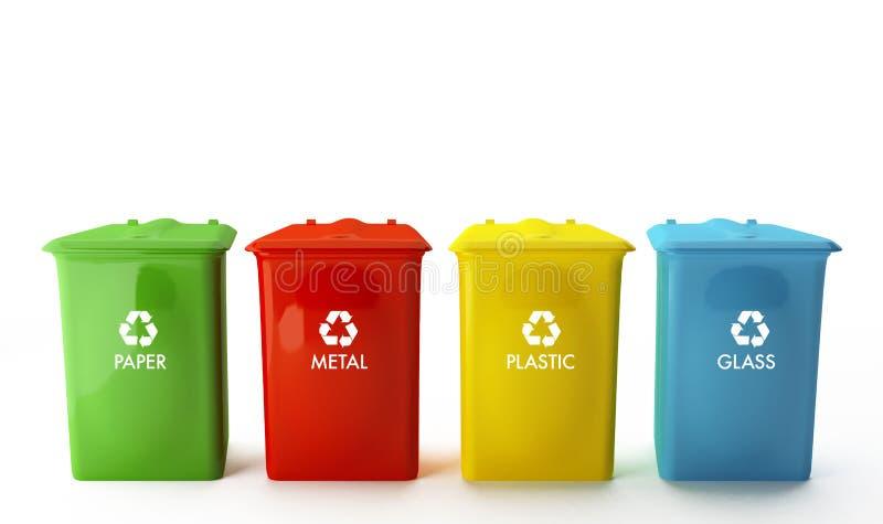 Containers voor recycling vector illustratie