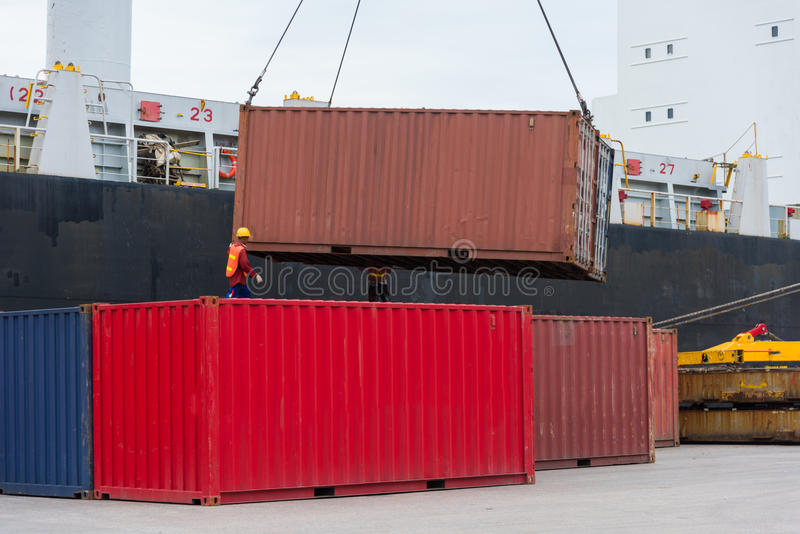 The containers royalty free stock photography