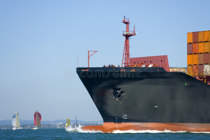 Containerschiff lizenzfreie stockbilder