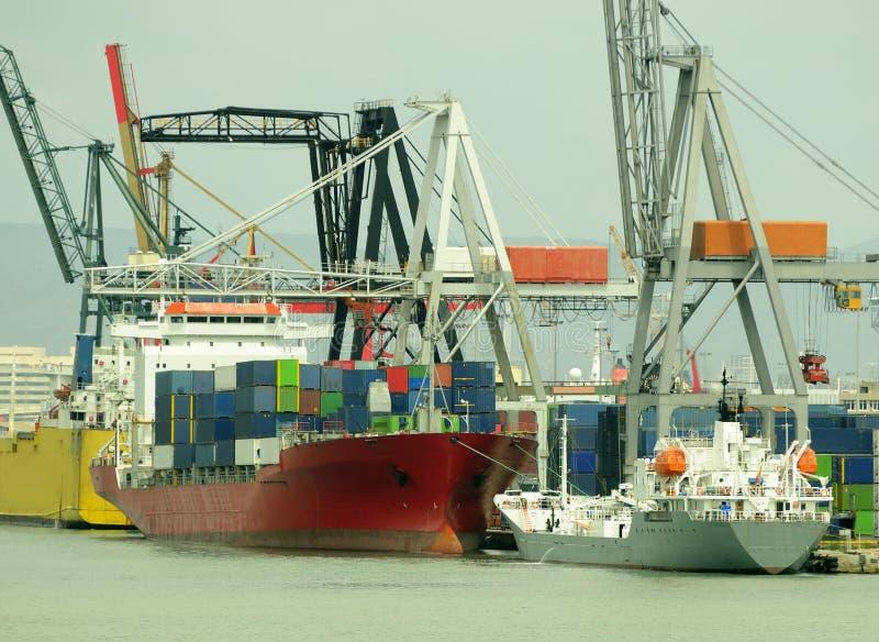 Containerschiff stockfotografie
