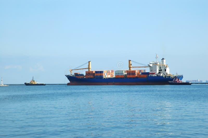 Containerschiff stockbilder