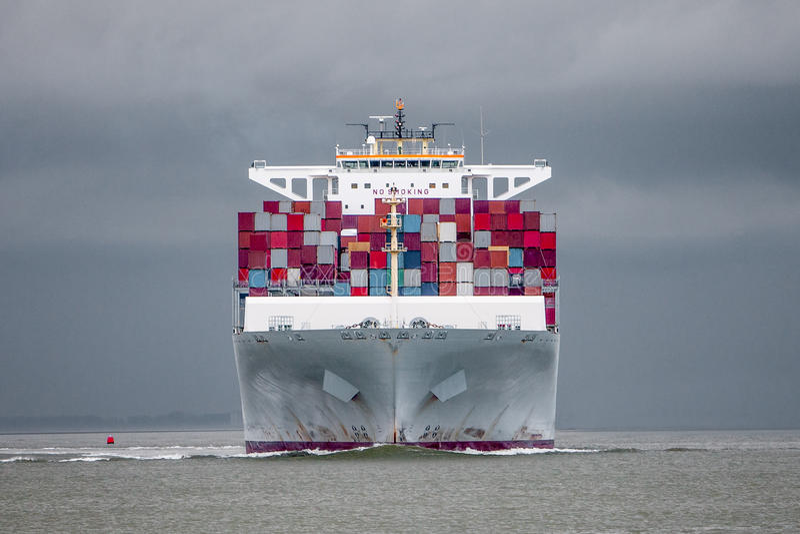 Containership obraz stock