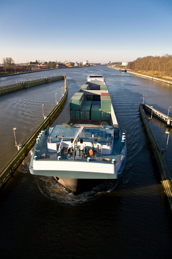 Download Containership stock image. Image of containers, river - 7554961