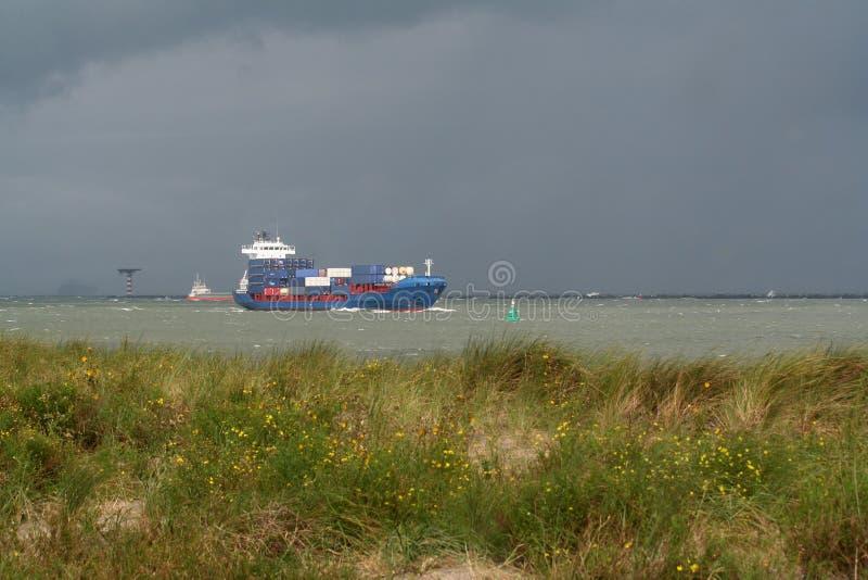 Containership stock photo