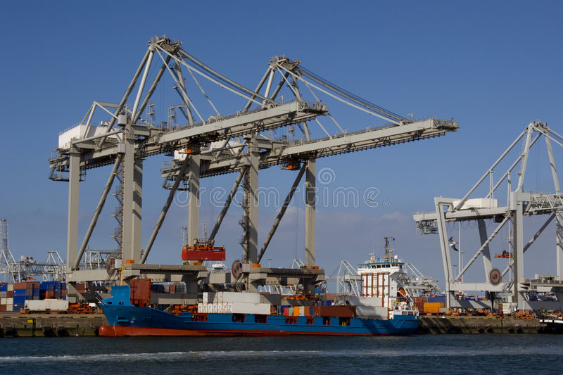 Containerships imagens de stock royalty free