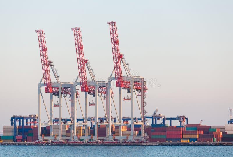 Containerterminal Lizenzfreie Stockbilder