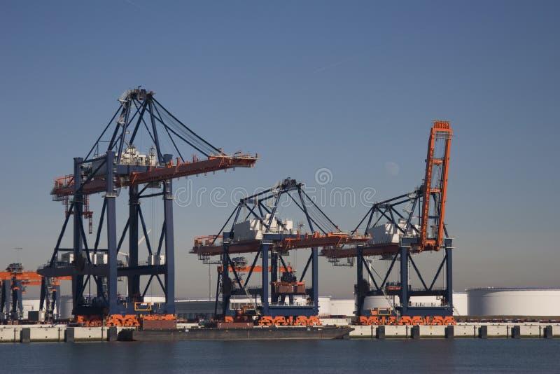 Containerterminal foto de stock