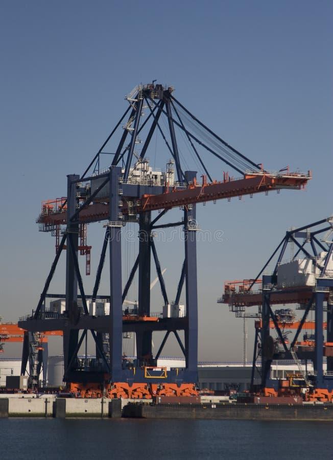 Containerterminal fotos de stock royalty free
