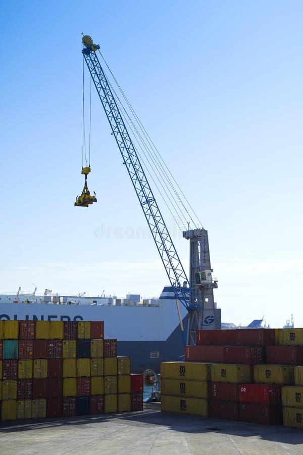 Containerterminal Redactionele Fotografie