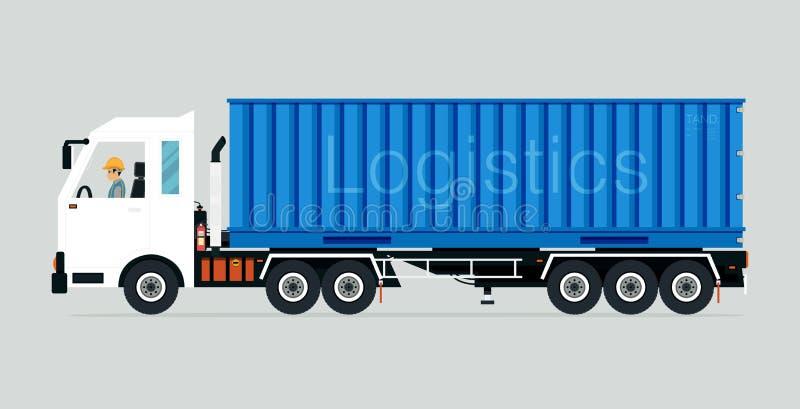 Containervrachtwagen vector illustratie