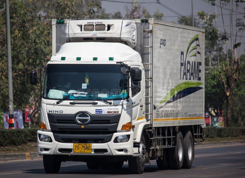 Containervrachtwagen van Parame-het bedrijf van het Logistiekvervoer royalty-vrije stock afbeelding