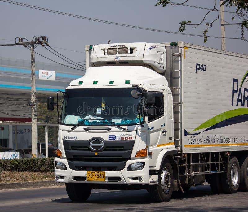 Containervrachtwagen van Parame-het bedrijf van het Logistiekvervoer stock foto