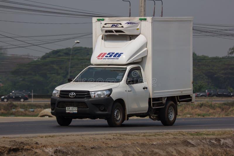 Containervrachtwagen van Phurich-Vervoersbedrijf royalty-vrije stock foto