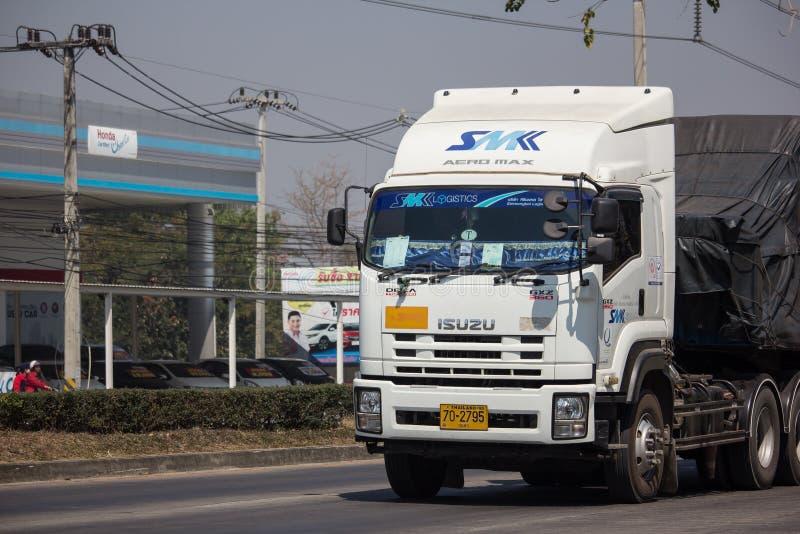 Containervrachtwagen van SMK-Logistiek royalty-vrije stock afbeeldingen