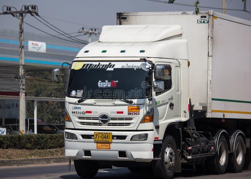 Containervrachtwagen van Thanaporn Logistic voor Tesco-lotusbloem royalty-vrije stock foto's