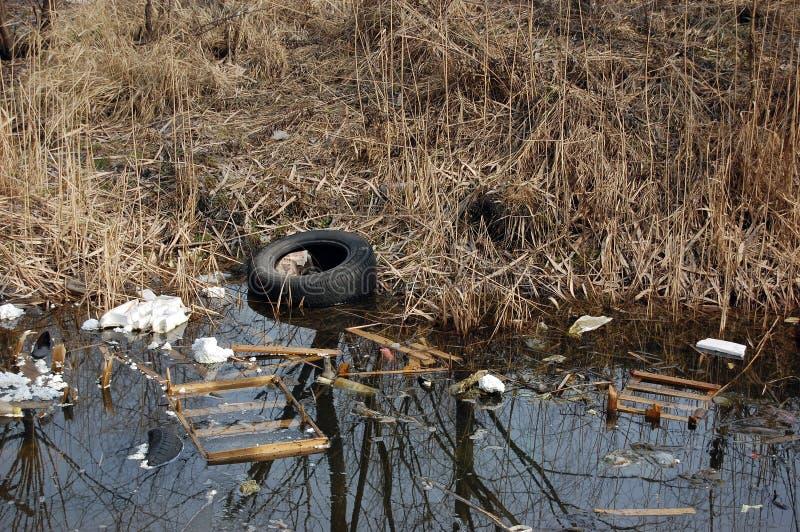Contaminação ambiental. imagem de stock royalty free
