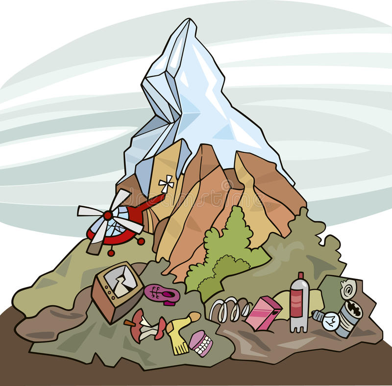 Contaminación ambiental ilustración del vector