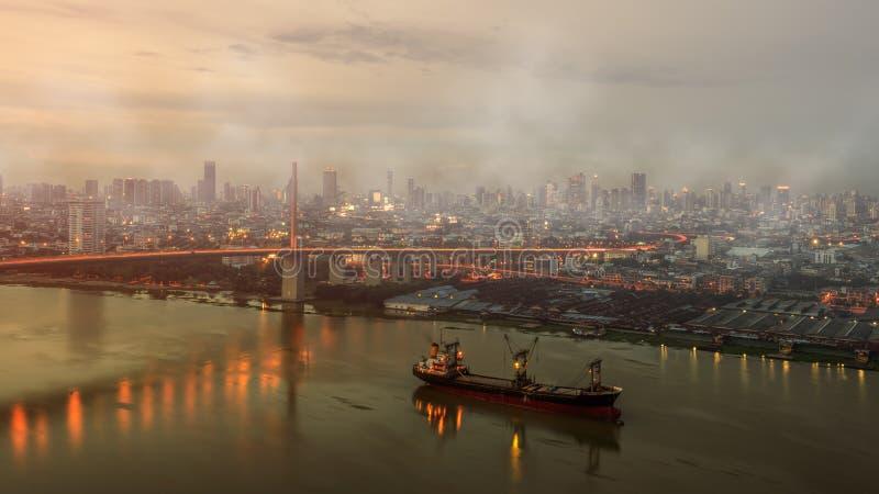 Contaminación atmosférica foto de archivo