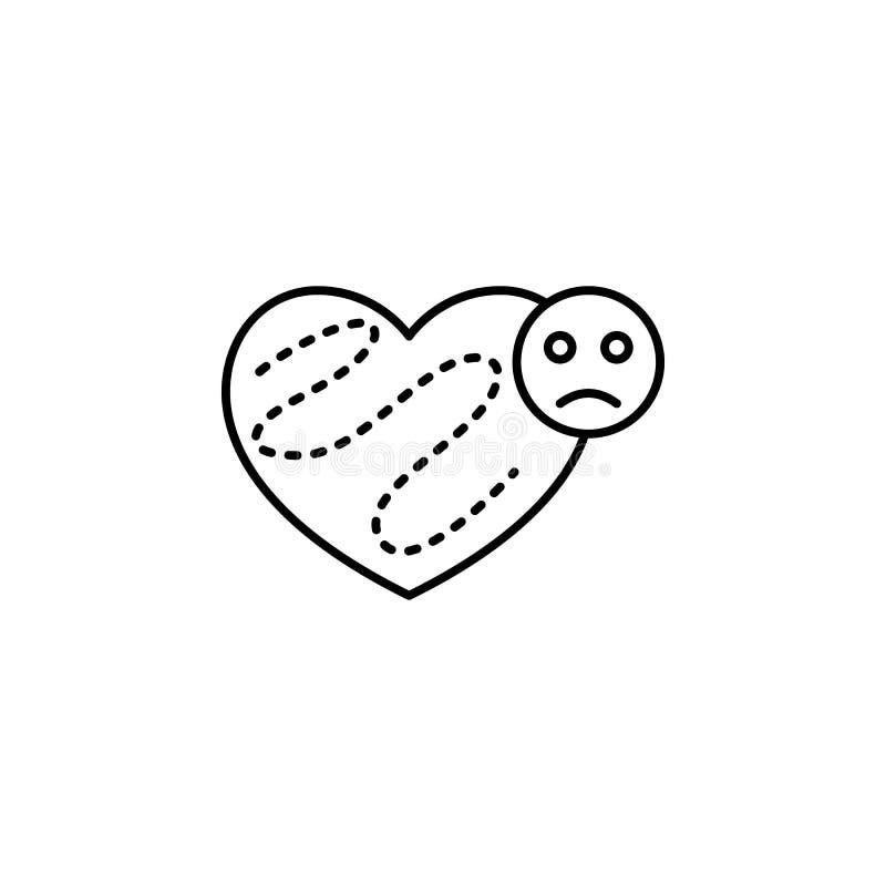 contaminación atmosférica, enfermedad, icono del corazón Elemento de la contaminación atmosférica para el concepto y el icono móv libre illustration