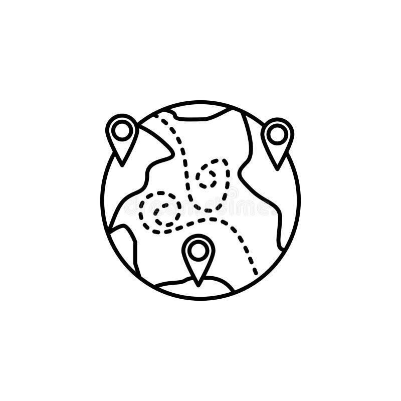 contaminación atmosférica, global, icono del perno Elemento de la contaminación atmosférica para el concepto y el icono móviles d stock de ilustración