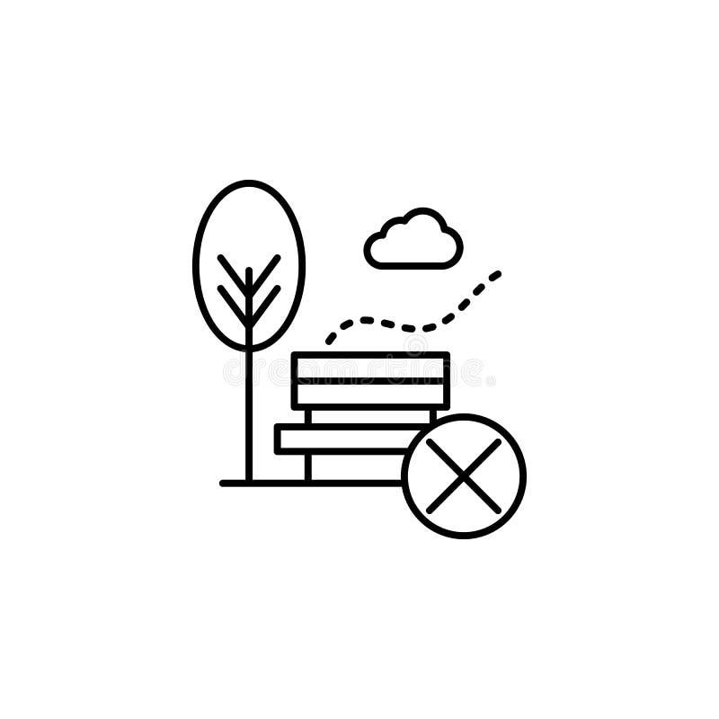 contaminación atmosférica, no, icono del parque Elemento de la contaminación atmosférica para el concepto y el icono móviles de l stock de ilustración
