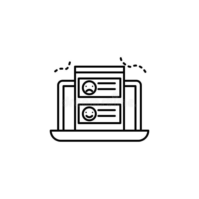 contaminación atmosférica, ordenador, icono de la situación Elemento de la contaminación atmosférica para el concepto y el icono  libre illustration