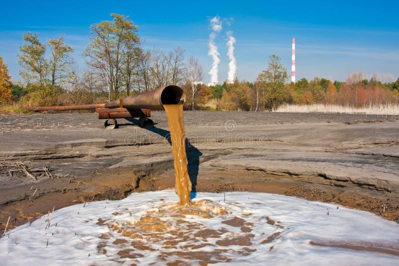 Contaminación de agua imagen de archivo