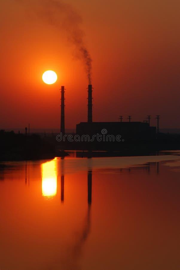 Contaminación de la atmósfera imagen de archivo libre de regalías