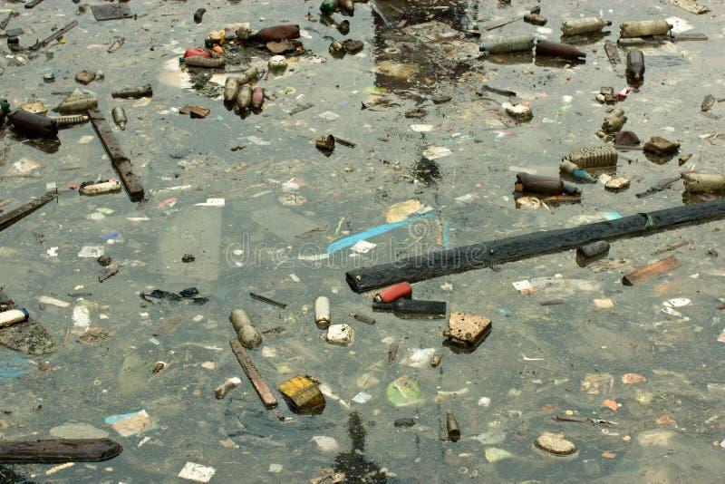Contaminación de marina fotografía de archivo
