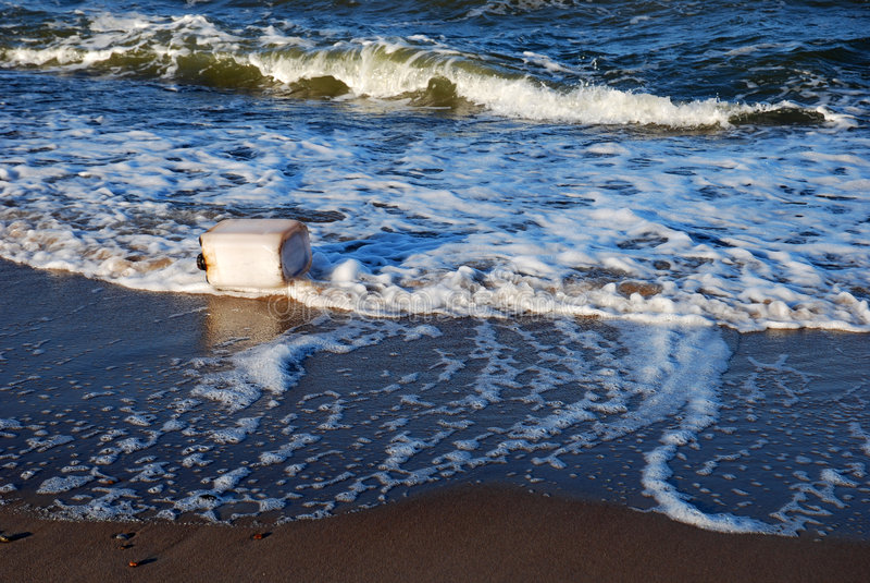 Contaminación del mar fotos de archivo