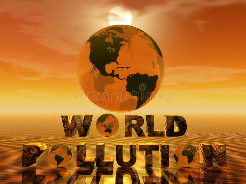Contaminación del mundo ilustración del vector
