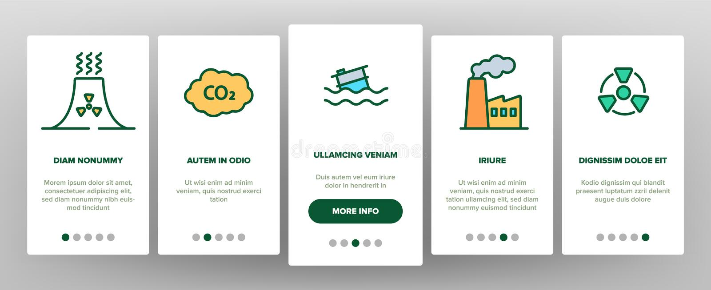 Contaminación del vector Onboarding del ambiente libre illustration