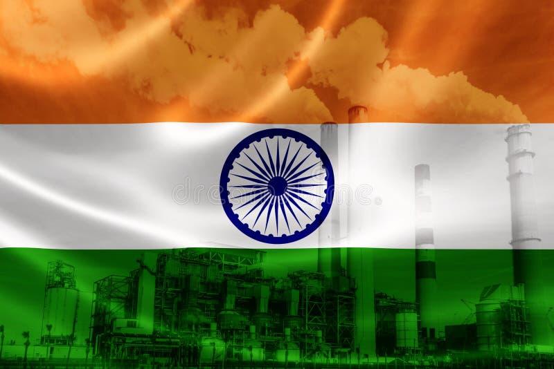 Contaminación industrial en la India ilustración del vector