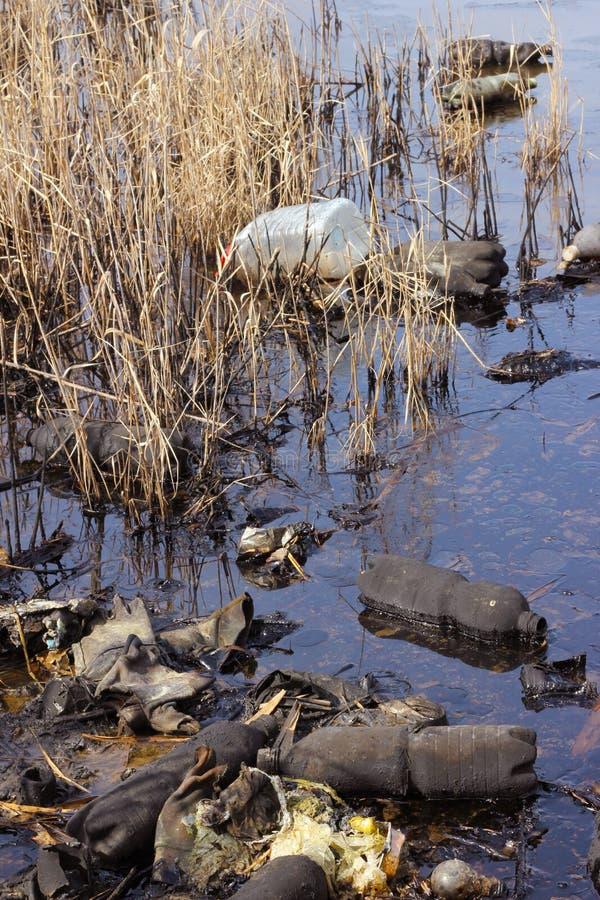 Contaminación por petróleo foto de archivo