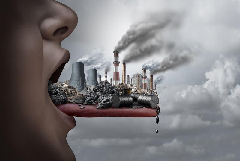 Contaminación tóxica dentro del cuerpo humano stock de ilustración