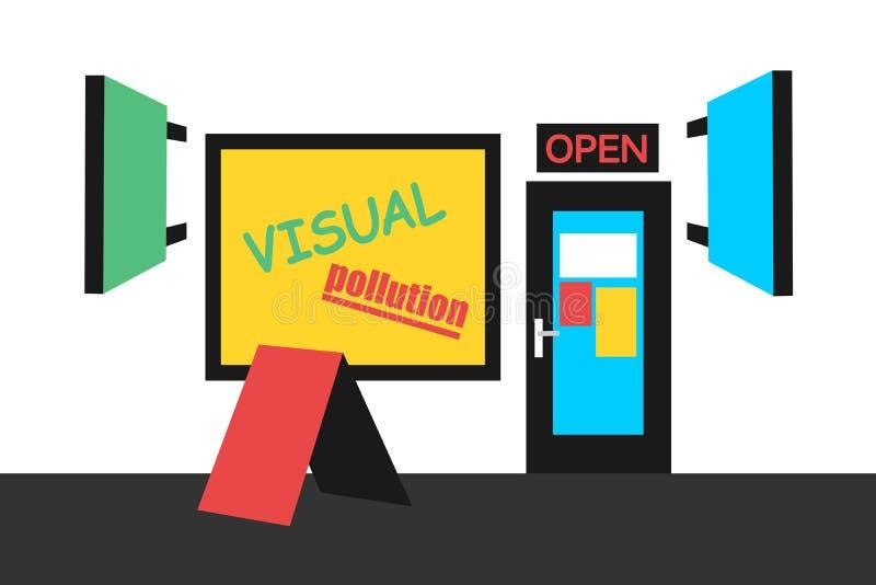 Contaminación visual libre illustration