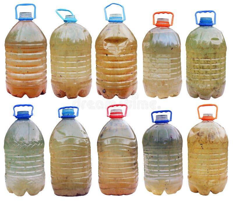Contaminado com micróbios e água perigosa suja das bactérias fotos de stock royalty free