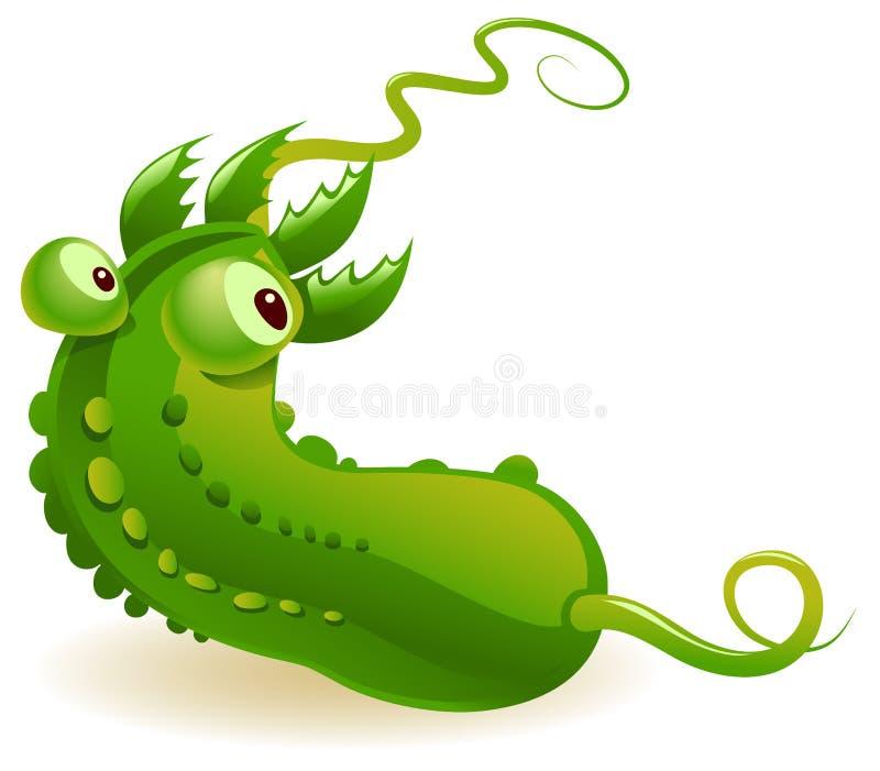 Contaminated Cucumber vector illustration