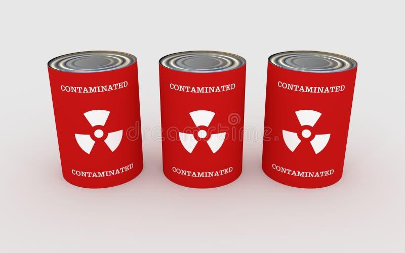 Contaminated Food stock illustration