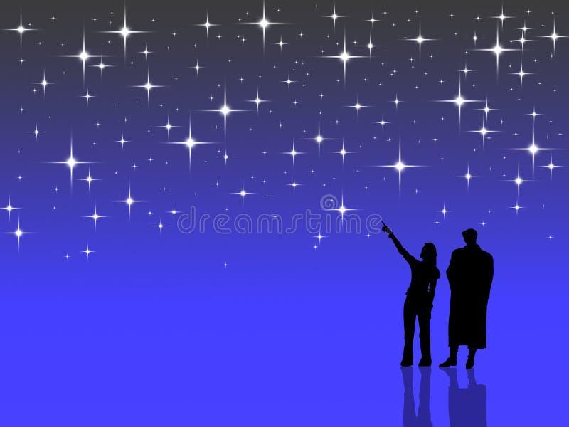 Contando estrelas ilustração do vetor