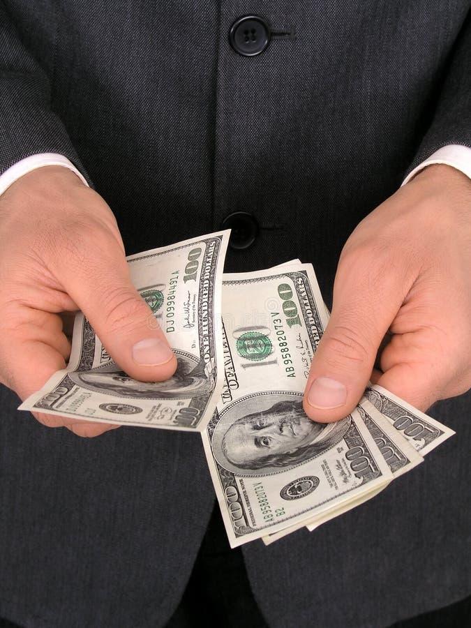 Contando o dinheiro imagem de stock royalty free