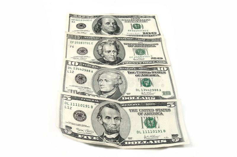 Contant geld 5 stock afbeelding