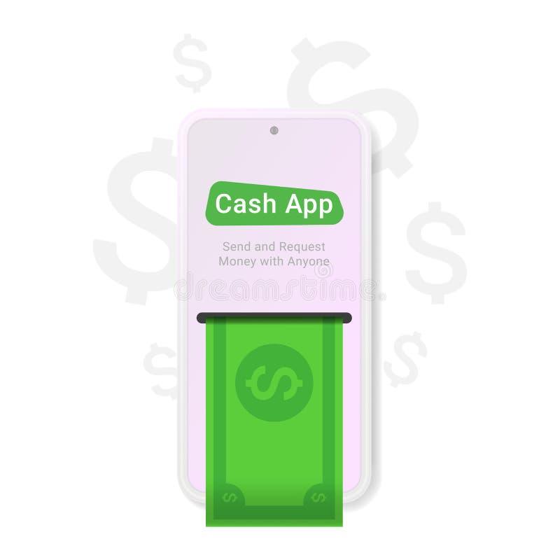Contant geld app, groot ontwerp voor om het even welke doeleinden stock illustratie