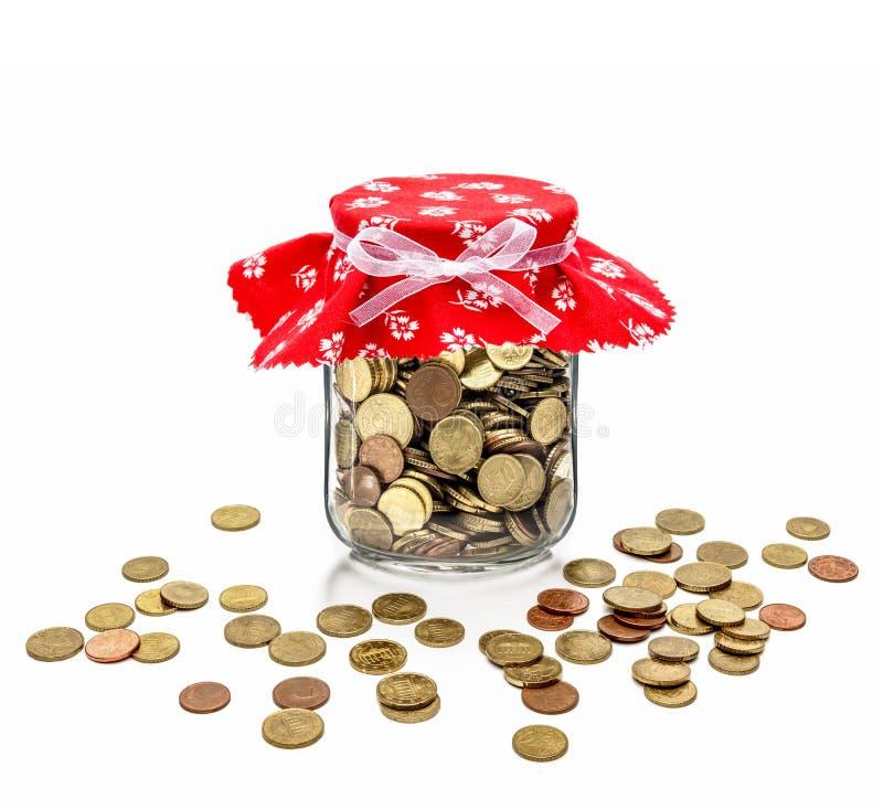 Contant geld in jampot royalty-vrije stock afbeelding