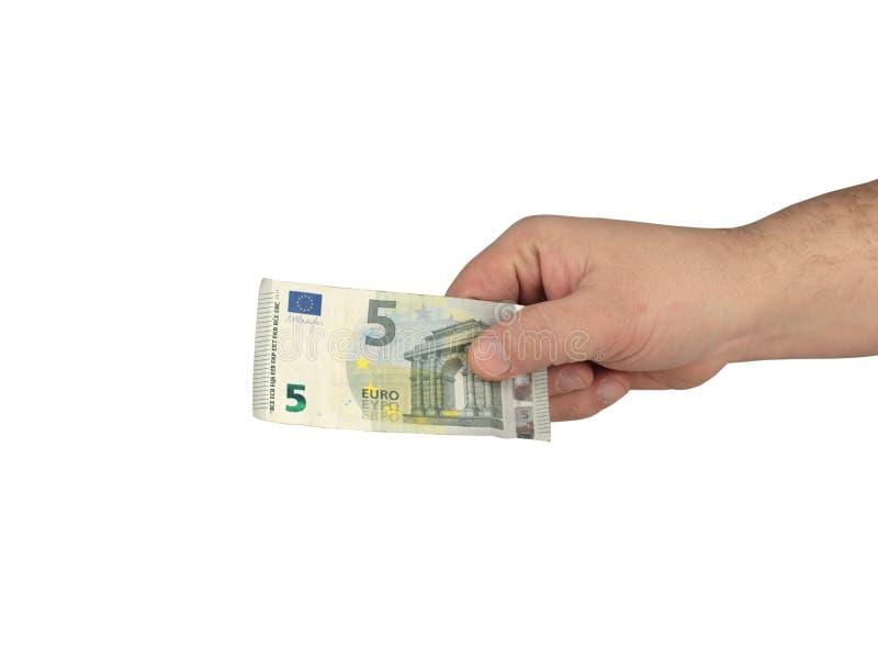 Contant geld op de hand royalty-vrije stock afbeeldingen