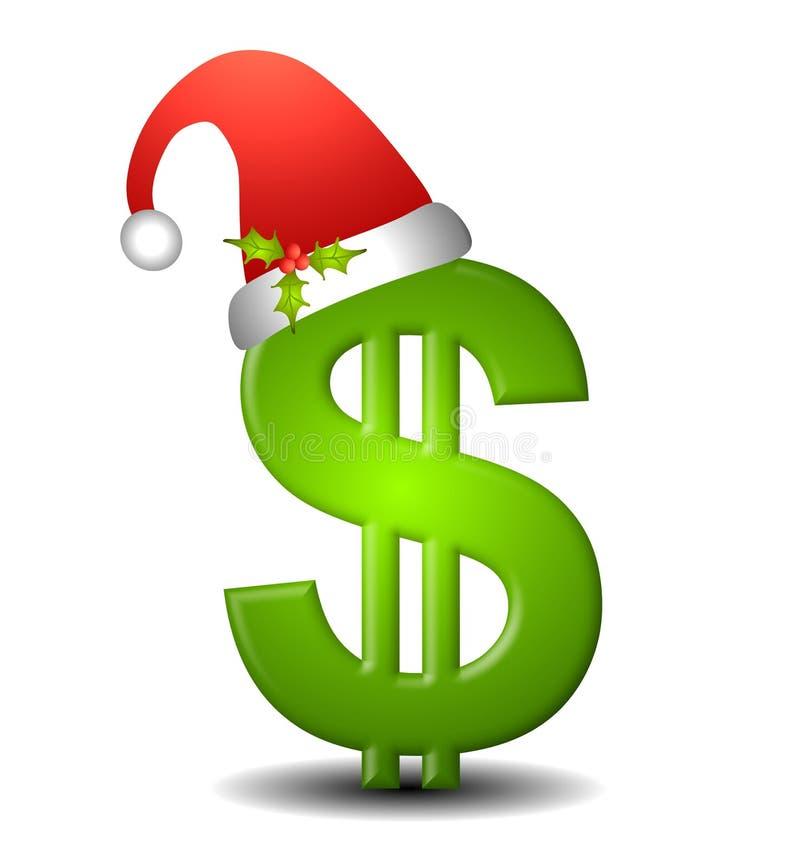 Contant geld voor Kerstmis vector illustratie