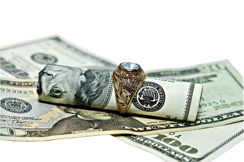 Contant geld voor Oude Gouden Juwelen royalty-vrije stock fotografie